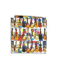 Eton of Sweden | Brown Guitar Print Pocket Square for Men | Lyst
