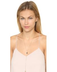 Rebecca Minkoff | Metallic Two Charm Y Necklace - Gold/black | Lyst