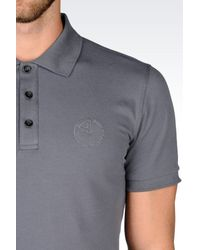 Armani | Gray Short-sleeved Polo for Men | Lyst