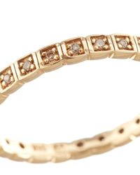 Anna Sheffield | Metallic Gold And White Diamond Eternity Ring | Lyst