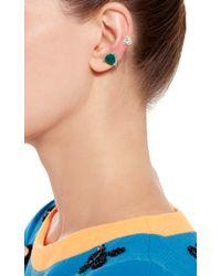 Runa   Metallic White Crystal And Agate Earring Cuff   Lyst