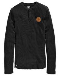 LRG - Black Thermal Henley for Men - Lyst