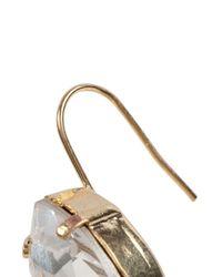 Fallon - Metallic Swarovski Crystal Drop Earrings - Lyst