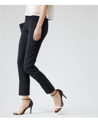Reiss - Black Crema Tailored Trousers - Lyst