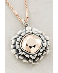 Anthropologie | Metallic Izar Crystal Necklace | Lyst