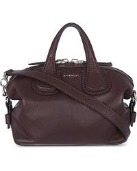 Givenchy | Purple Nightingale Micro Leather Tote | Lyst
