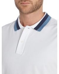 Michael Kors | White Regular Fit Tipper Collar Short Sleeve Polo Shirt for Men | Lyst