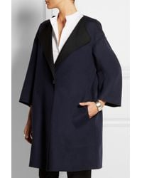 Jil Sander - Blue Oversized Reversible Double-Faced Cashmere Coat - Lyst