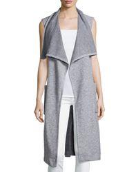 Nicholas - Gray Sleeveless Wrap Long Vest - Lyst