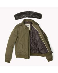 Tommy Hilfiger | Green Bomber for Men | Lyst