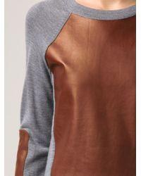 Reed Krakoff - Gray Panel Sweater - Lyst