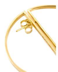 Maria Black | Metallic Half Hoop Earrings | Lyst