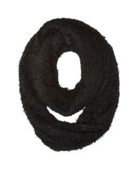 Calvin Klein | Black Boucle Infinity Scarf | Lyst
