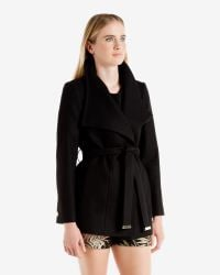 Ted Baker | Black Gisel Forget Me Not Cape | Lyst