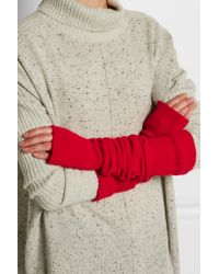 The Elder Statesman - Red Wool And Cashmere-blend Arm Warmers - Lyst