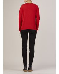 Jil Sander - Red Cashmere Crewneck Sweater - Lyst