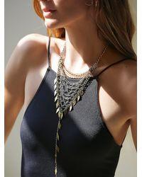 Free People - Metallic Womens Chainmail Bandana Necklace - Lyst