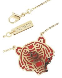 KENZO | Red Gold Plated Tiger Necklace | Lyst