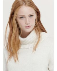 Violeta by Mango | Blue Cotton Wool-blend Sweater | Lyst