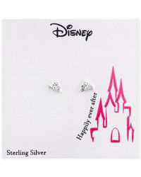 Disney | Metallic Princesses Crown Stud Earrings In Sterling Silver | Lyst