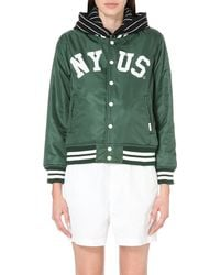 Chocoolate - Green Reversible Shell Jacket - Lyst