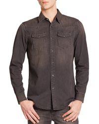 BLK DNM - Gray Classic-fit Denim Sportshirt for Men - Lyst