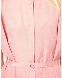 See By Chloé - Pink Sleeveless Shirt Dress with Belted Waist - Lyst