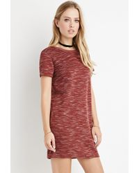 Forever 21 | Brown Space Dye T-shirt Dress | Lyst
