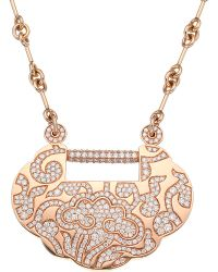 Qeelin | Metallic Yuyi Large Floral-diamond Necklace | Lyst