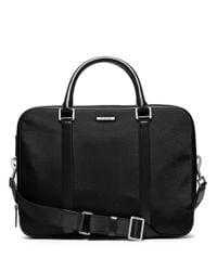 Michael Kors | Black Nylon Large Double Gusset Briefcase for Men | Lyst