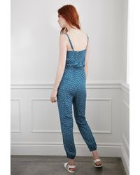 Forever 21 | Blue Ditsy Floral Print Jumpsuit You've Been Added To The Waitlist | Lyst