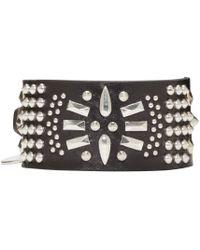 Alexander McQueen - Black Studded Bracelet for Men - Lyst