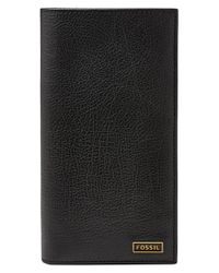 Fossil | Black 'omega' Executive Wallet for Men | Lyst