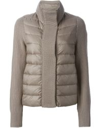 Moncler - Brown Funnel-Neck Quilted Jacket  - Lyst