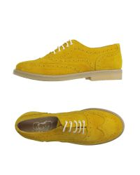 Snobs - Yellow Lace-up Shoes - Lyst