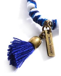 Isabel Marant - Blue Multi Disc Tassel Bracelet - Lyst
