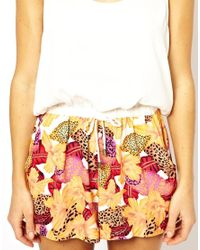 MINKPINK | Yellow Minkpink Orchid Print Combo Playsuit | Lyst