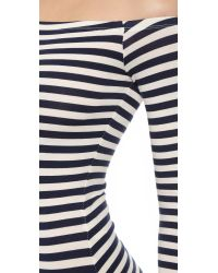 Capulet - Blue Off Shoulder Leotard - Navy Stripe - Lyst