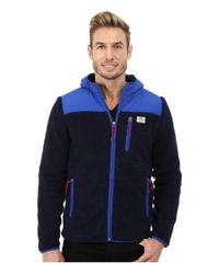 Penfield | Blue Carson Hooded Pile Fleece Jacket for Men | Lyst