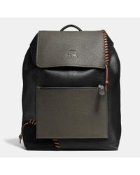 COACH | Black X Details Rip And Repair Manhattan Backpack In Leather for Men | Lyst