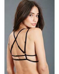 Forever 21 - Black Strappy Crochet Lace Bralette - Lyst