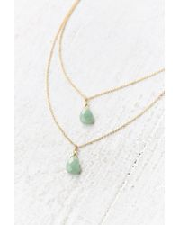 Urban Outfitters - Green Stones Of The Valley Layered Necklace - Lyst