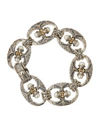 Konstantino - Metallic Double-pearl Link Bracelet - Lyst