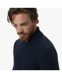 James Perse Blue Merino Blend Pullover Sweater for men