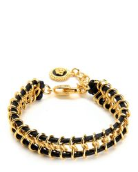 Juicy Couture | Metallic Chain And Cord Bracelet | Lyst
