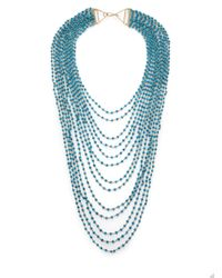 Iam By Ileana Makri | Blue Turquoise Bead Draped Multi-strand Necklace | Lyst