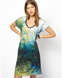 Paul by Paul Smith - Blue Pauls Photo Print Dress in Watery Pond - Lyst
