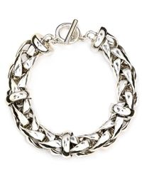 Lauren by Ralph Lauren | Metallic Braided Chain Bracelet | Lyst