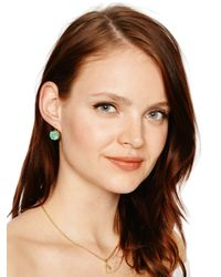 kate spade new york - Green Kate Spade Round Leverbacks Earrings - Lyst
