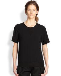 Rag & Bone - Black Shantal Sweatshirt Tee - Lyst